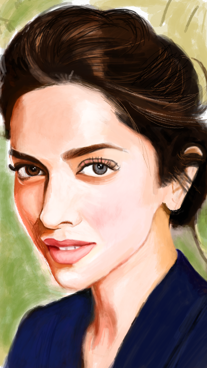 Deepika Padukone  - A finger painting on iphone 6s