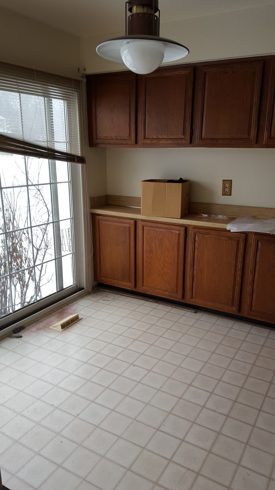 Not A Huge Kitchen, But Also Not Tiny, Just Really Poorly Laid Out, Along  With Like NO Counter Space.