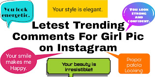 Letest Trending Comments For Girl Pic on Instagram