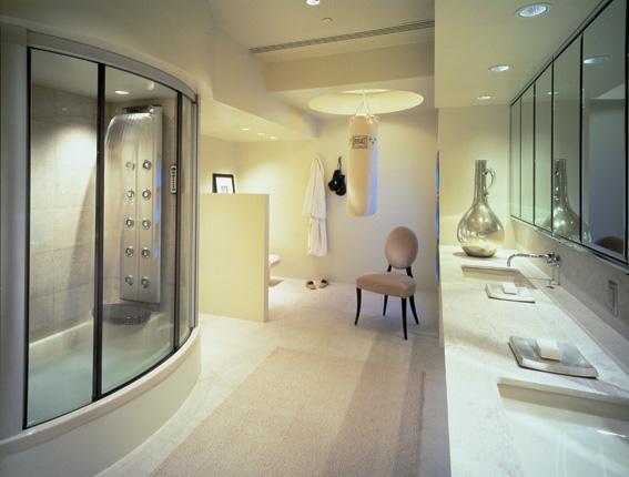 Ba os modernos ba o amplio moderno - Fotos de recibidores modernos ...