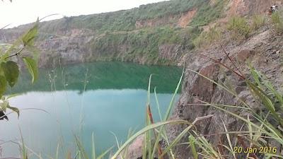 Danau atau situ querry daerah rumpin bogor