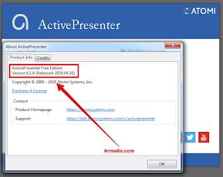 Download ActivePresenter Versi 6.1.6 64 bit Windows 7 | Software merekam Layar PC
