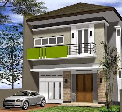 25 rumah minimalis 2 lantai
