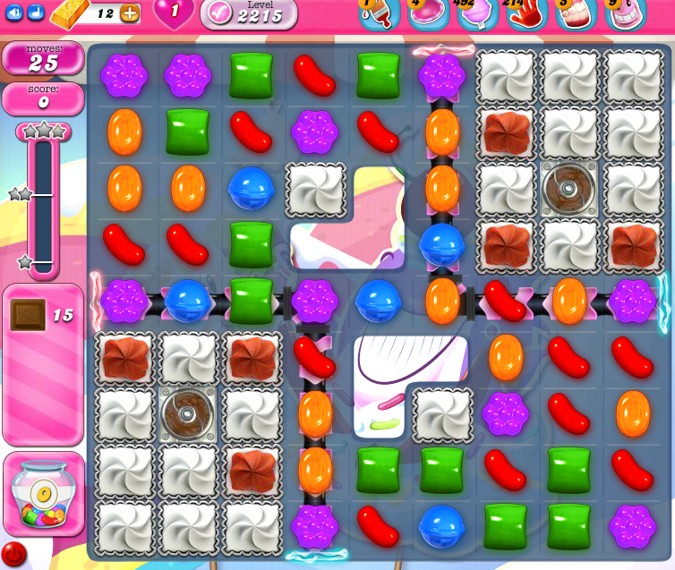 Candy Crush Saga level 2215