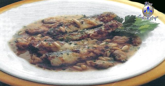 Sardinas con Almejas y Piñones