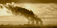 Emissions from coal-fired power plants have massively pushed up carbon dioxide ratios in the atmosphere. (Image Credit: UniversityBlogSpot via Flickr) Click to Enlarge.