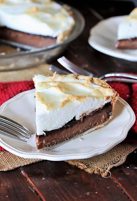 Slice of Old-Fashioned Chocolate Meringue Pie Image
