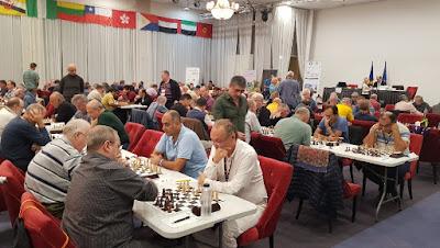 Sala de juego del Campeonato del Mundo de Veteranos Bucarest-2019
