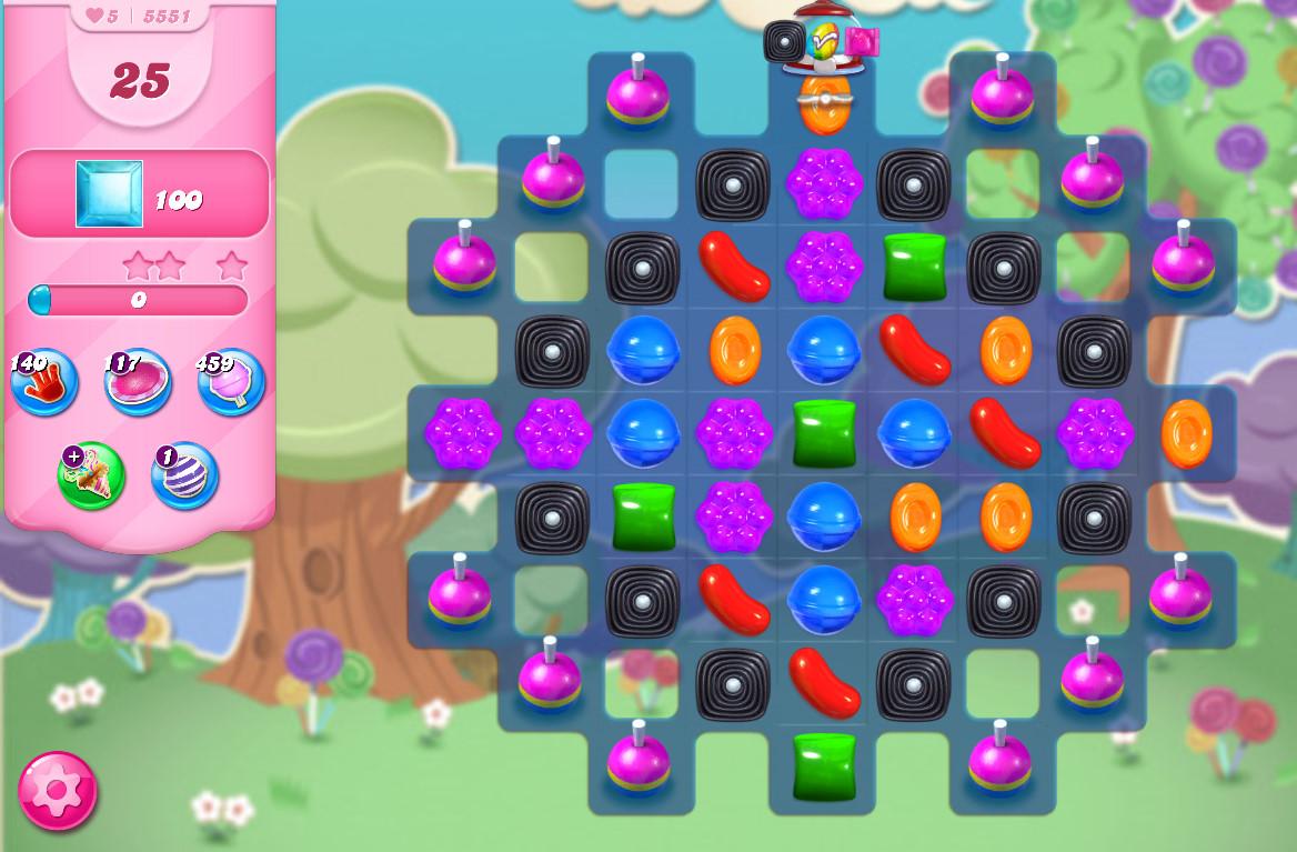 Candy Crush Saga level 5551