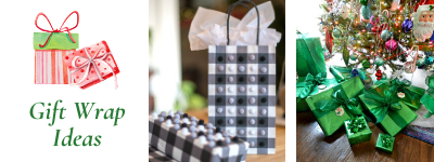 Christmas gift wrap ideas.