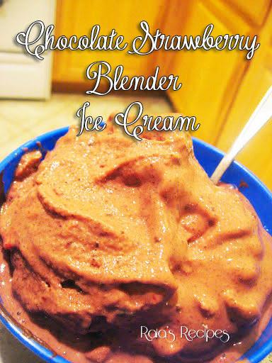 Chocolate-Strawberry Blender Ice Cream by Raia's Recipes