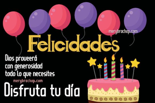 disfruta tu dia felicidades frases bonitas de felicitaciones en cumpleaños imagen