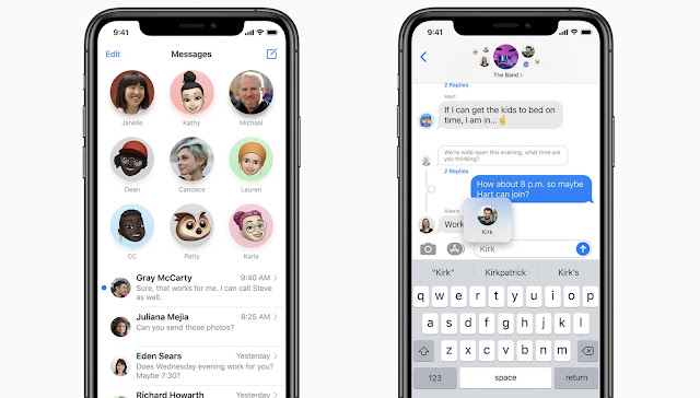 Source : Apple | iOS 14 Update - messages and chat