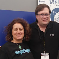 Michelle Moog-Koussa of the Bob Moog Foundation and Rick Reid, host of the Theremin 30 Podcast