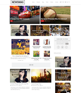 News Mag Blogger Template Free Download.