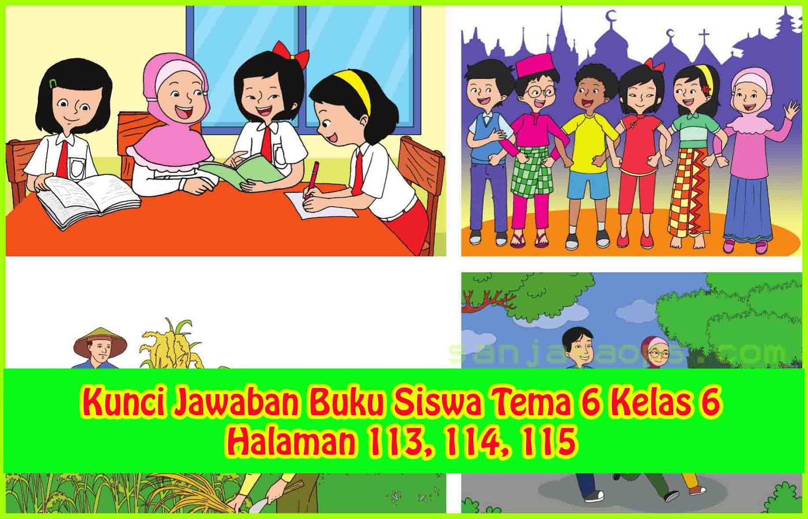 Kunci Jawaban Buku Tematik Tema 6 Kelas 5 Halaman 138 139 141