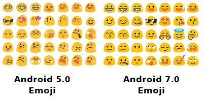 Emotikon android N untul lolipop dan marsmellow