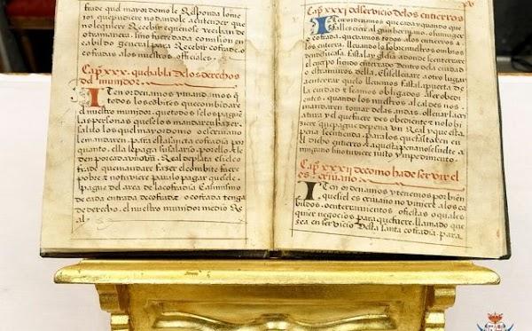 La Trinidad restaura un libro de reglas de 1555
