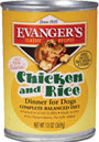 Picture of Evanger's All Natural Chicken and Rice Dinner Canned Dog Food
