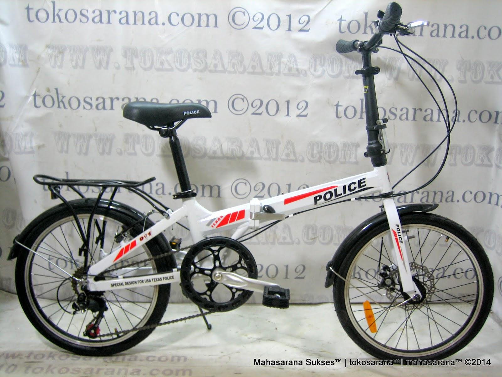 Sepeda Lipat Element Texas Police 911 Rem Cakram 20 Inci