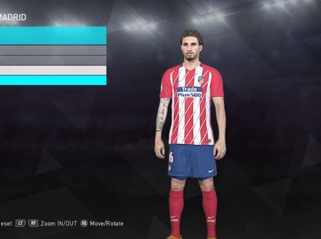 Sime Vrsaljko Face with Tattoo PES 2018