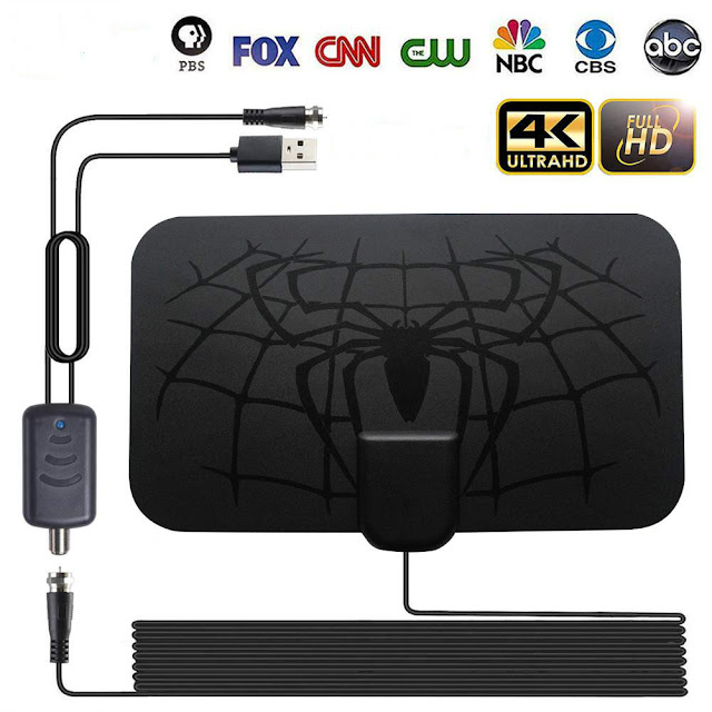 hengshanlao Indoor 1500 Miles Digital Antena TV Aerial Amplified HDTV Antenna 4K DVB-T2 Freeview isdb-tb Local Channel Broadcast