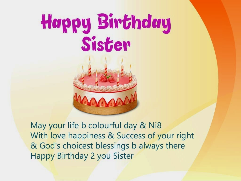 Birthday images for sister happy greetings
