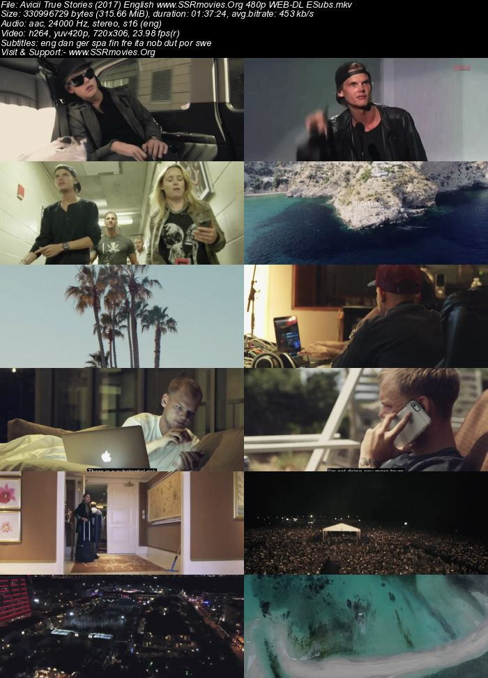 Avicii: True Stories (2017) English 480p WEB-DL 300MB
