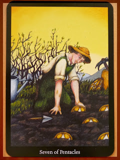 seven of pentacles Anna K tarot