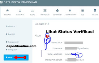 Cek Status Verifikasi Akun PTK