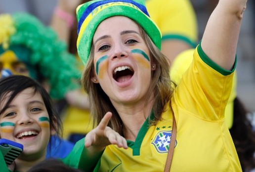 Brazil Fans in World Cup 2014