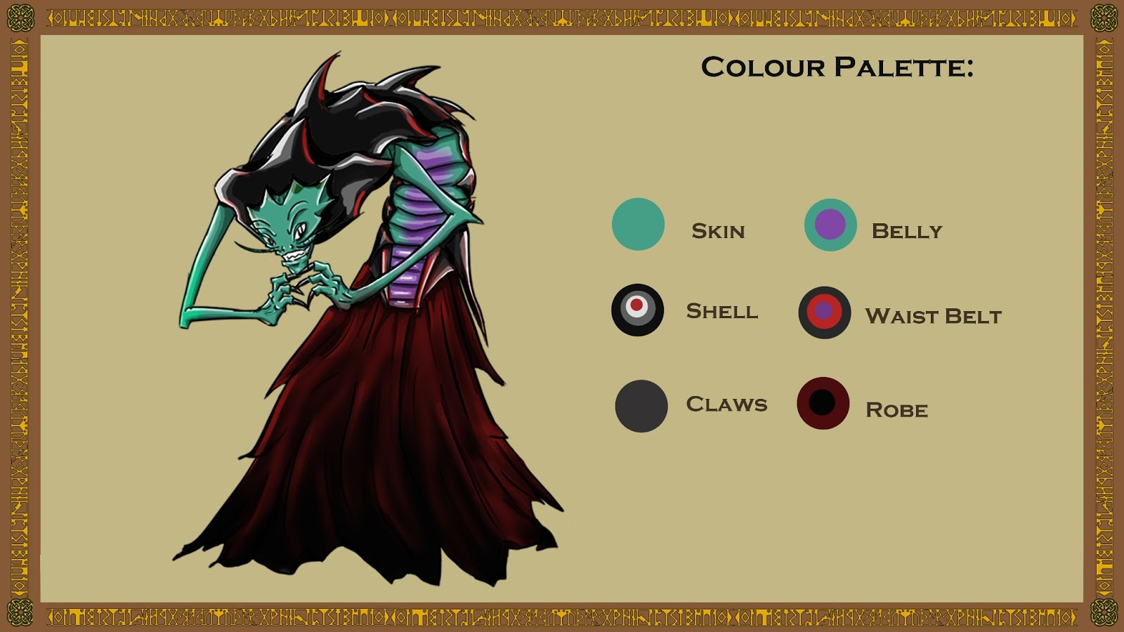 Joey Ku Character Design Project All Characters Colour Palettes