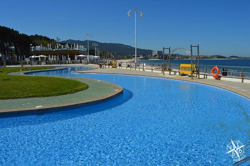 Playas para ir con niños en Vigo, piscinas de Samil