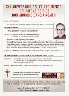 XXV Aniversario del Fallecimiento del Siervo de Dios Abundio García Román