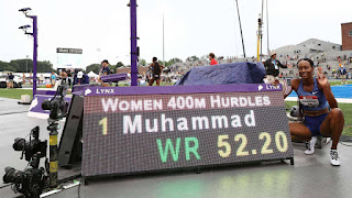 ATLETISMO - Dalilah Muhammad nueva plusmarquista mundial de los 400 metros vallas