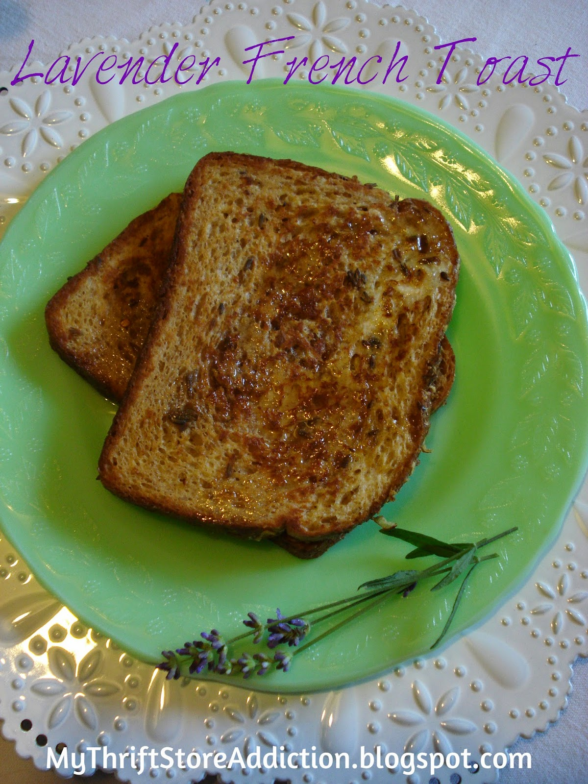 Lavender French toast