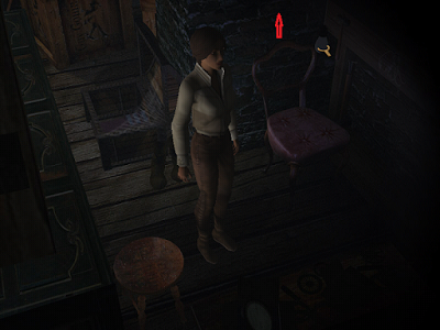 девушка ищет выключатель и зажигает лампочку в игре сибирь
