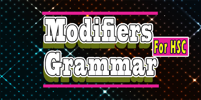modifier English Grammar