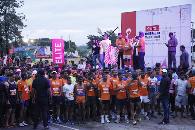 16000 Runners participated in  6th Airtel Hyderabad Marathon