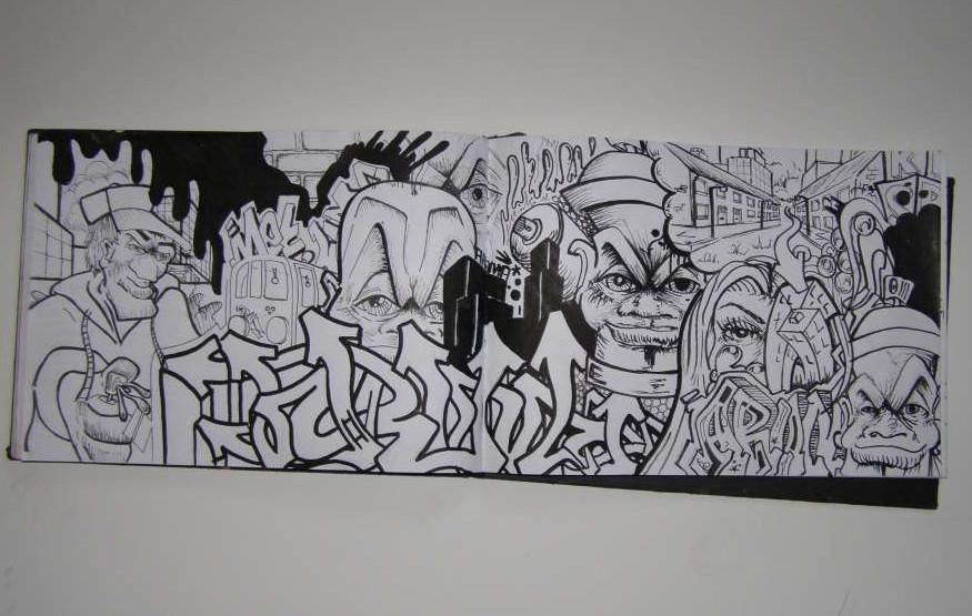 New Graffiti Art: Graffiti Blackbook: 5 Graffiti Sketch on ...