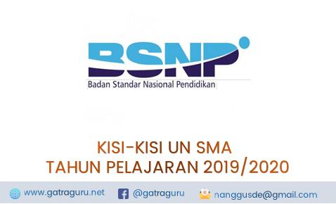 Kisi-Kisi UN SMA 2019/2020 Lengkap