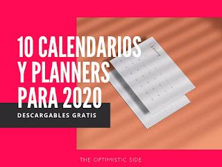 calendarios 2020 gratis descargables para imprimir