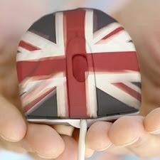 Ratón con bandera del Reino Unido