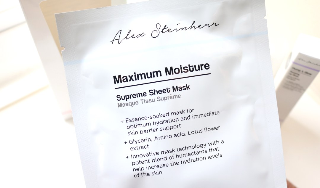 Alex Steinherr Maximum Moisture Supreme Sheet Mask review