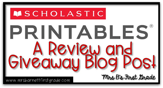 Scholastic Printables Review and Giveaway