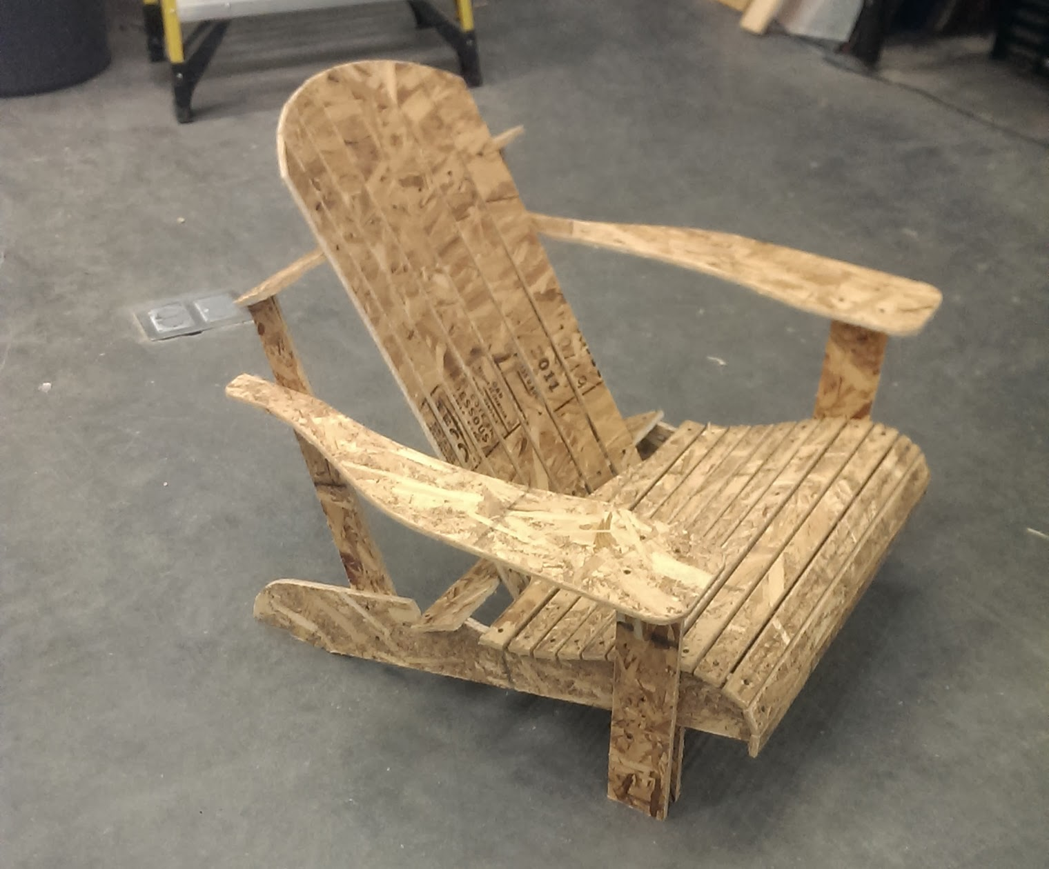 adirondack chair plans dxf best pc chairs milling mock up from osb shop bot 3