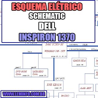 Esquema Elétrico DELL Inspiron 1370 Notebook / Laptop Manual de Serviço - Schematic Service Manual