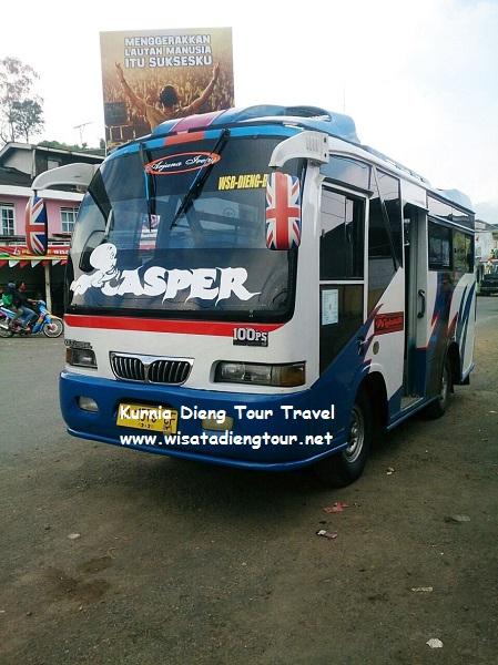 gambar shuttle bus jurusan dieng wonosobo