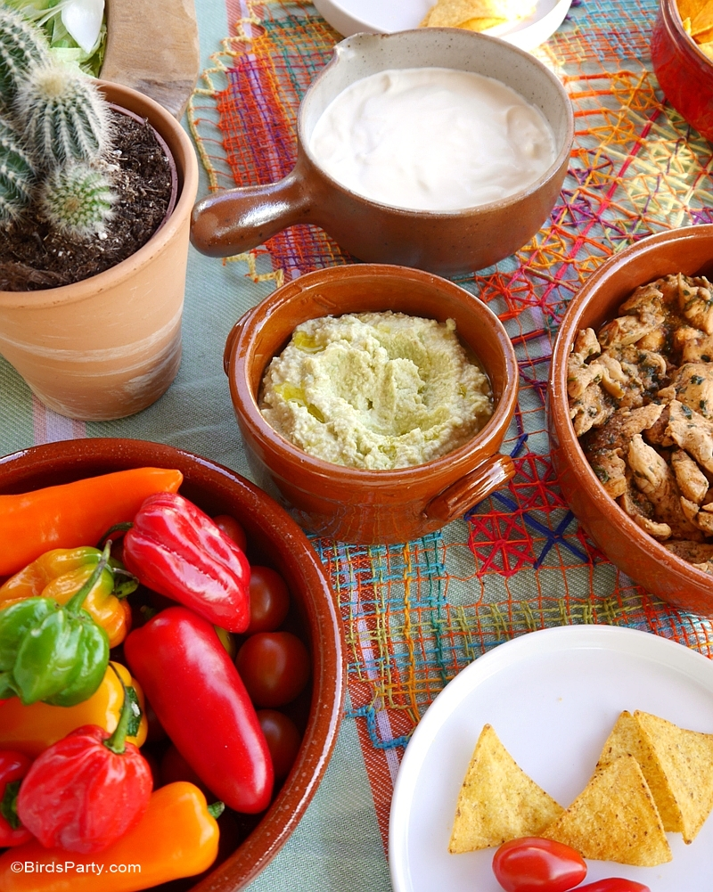 Mexican Fiesta Party Ideas Tablescape & Recipes - BirdsParty.com