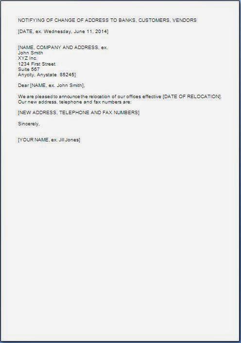 Office Address Change Letter